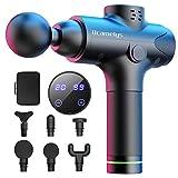 Massagepistole, Bcamelys Massage Gun für Nacken Schulter Rücken Muskel Massagegerät Elektronische Mit 6 Massageköpfen und 20 Geschwindigkeiten Vibrationsgerät