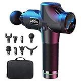 Massagepistole, ABOX Massage Gun für Nacken Schulter Rücken Massagegerät Elektrisch mit 8 Massageköpfen und 30 Geschwindigkeiten, Schwarz, Upgrade-Version