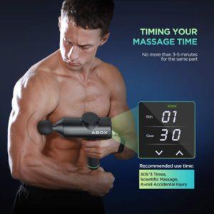 anwendung abox hero1 massage gun